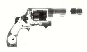 X-Ray of Interbore lock installed in Revolver